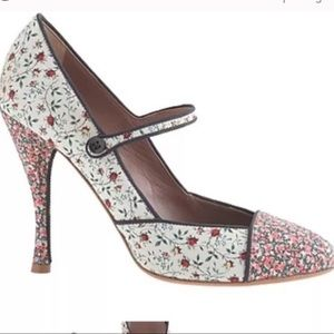 J. Crew Tabitha Simmons floral Mary Jane shoes